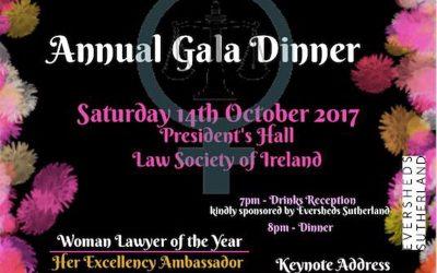 Annual Gala Dinner – 14th October 2017
