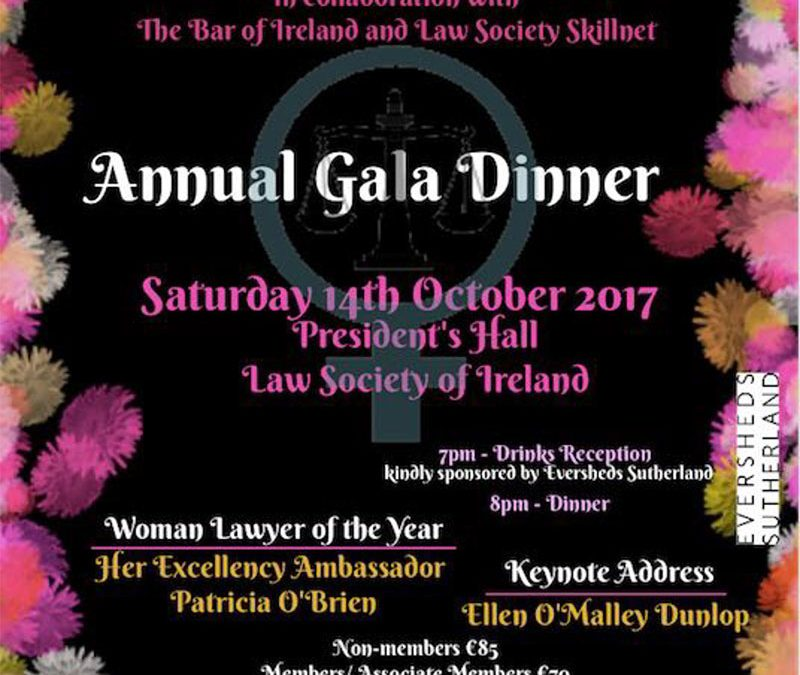 Annual Gala Dinner – 14th October 2017