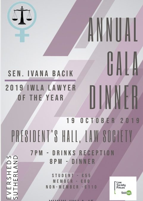 IWLA Annual Gala Dinner Tickets