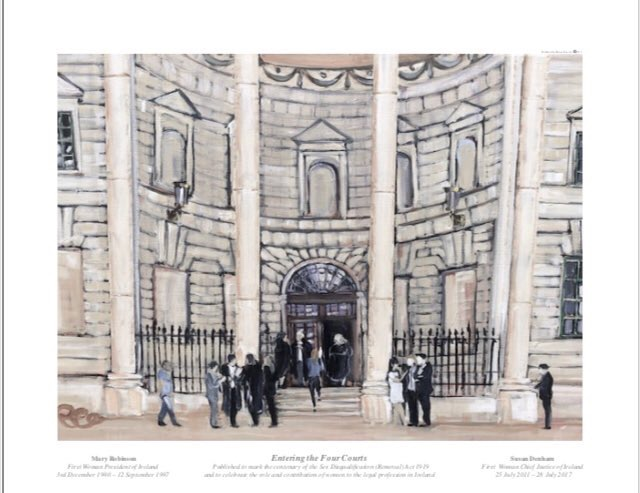 """Entering the Four Courts"" Hanna Fine Art Limited Edition Print"