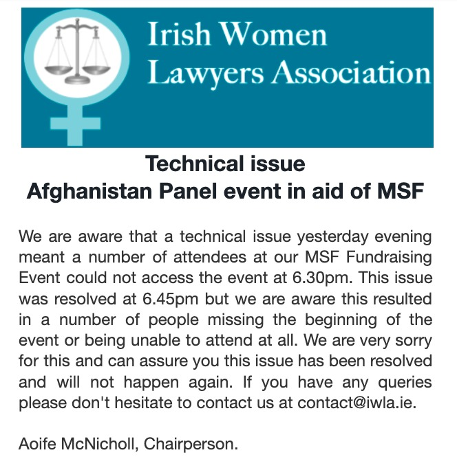 Technical issues on Panel event